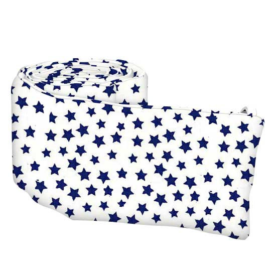 Primary Stars Navy On White Woven