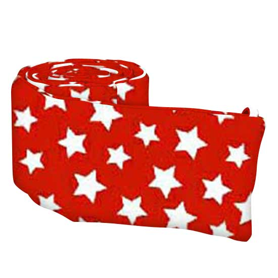 Primary Stars White On Red Woven