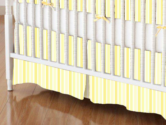 100% Cotton Woven - Pastel Stripes and Ginghams Mini Crib Skirts