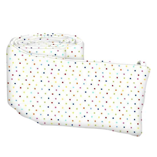 Primary Colorful Pindots Woven