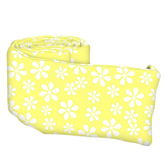 Pastel Yellow Floral Woven