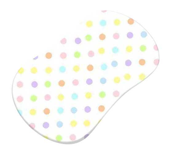 Pastel Colorful Polka Dots Woven