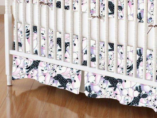 Crib Skirt - Colorful Sheep