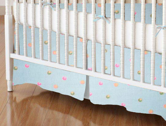 Mini Crib Skirt - Colorful 