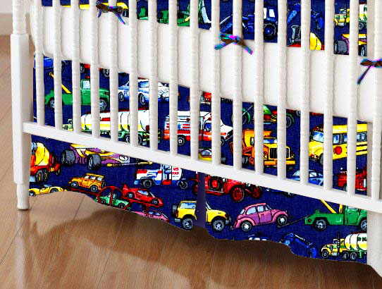 100% Cotton Percale - Baby Transport Crib Skirts