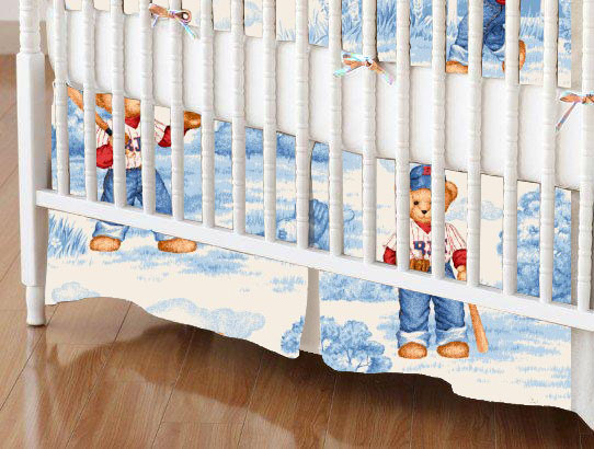 Crib Skirt - All Star Toile