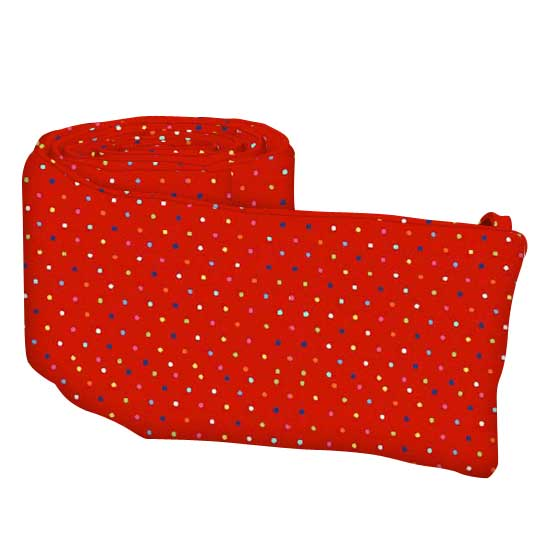 Primary Colorful Pindots Red Woven