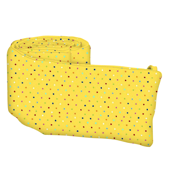 Primary Colorful Pindots Yellow Woven