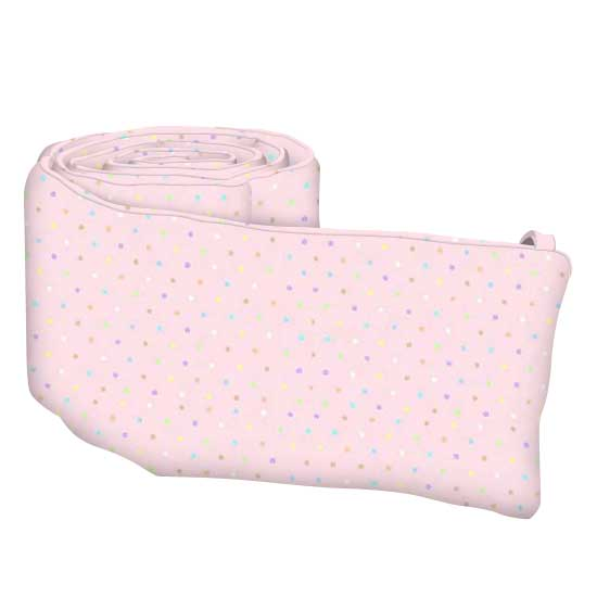 Pastel Colorful Pindots Pink Woven