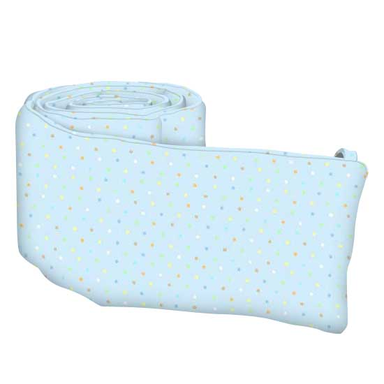 Pastel Colorful Pindots Blue Woven