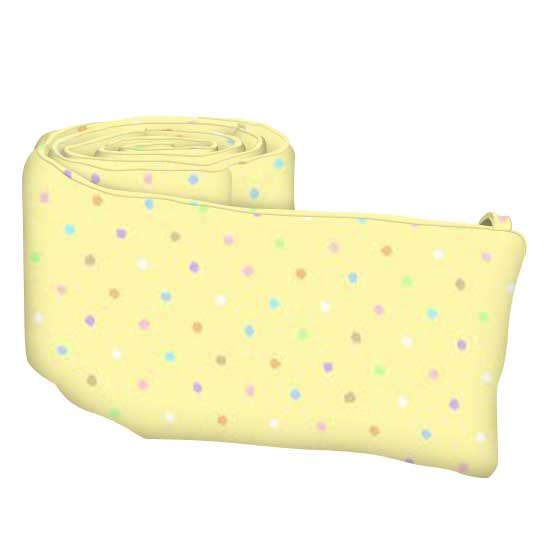 Pastel Colorful Pindots Yellow Woven
