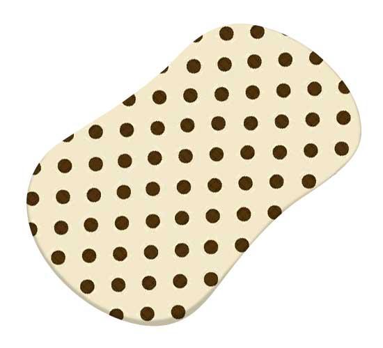 Brown Polka Dots Cream Woven