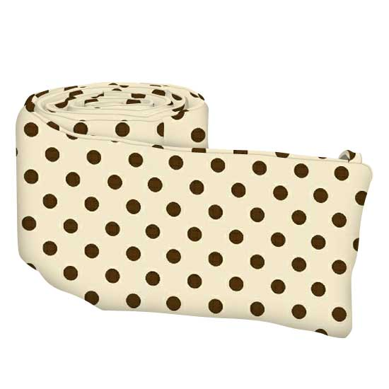 Brown Polka Dots Cream Woven