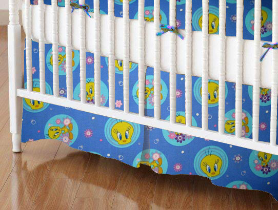 100% Cotton Percale - Character Prints - Kid Characters Mini Crib Skirts