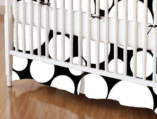 100% Cotton Woven - Modern Print Collection Mini Crib Skirts