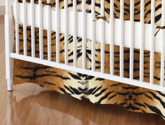 Crib Skirt - Tiger