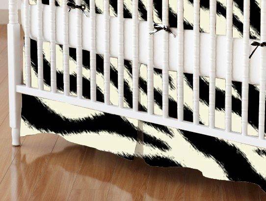 Crib Skirt - Zebra