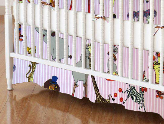 Crib Skirt - Madagascar Pink