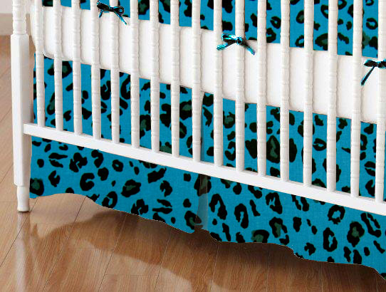 100% Cotton Woven - Leopard Crib Skirts