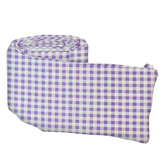 Lavender Gingham Check Portable Mini Crib Sheets