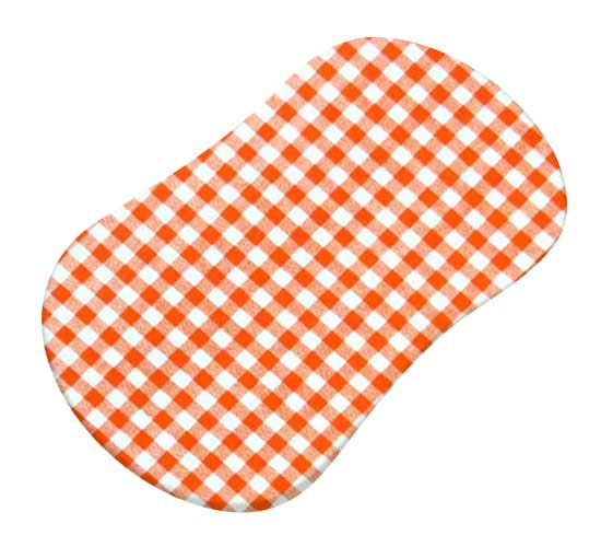 Orange Gingham Check