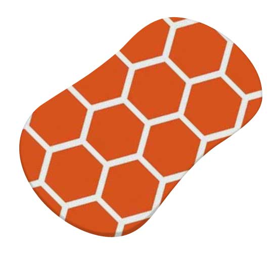 Burnt Orange Honeycomb