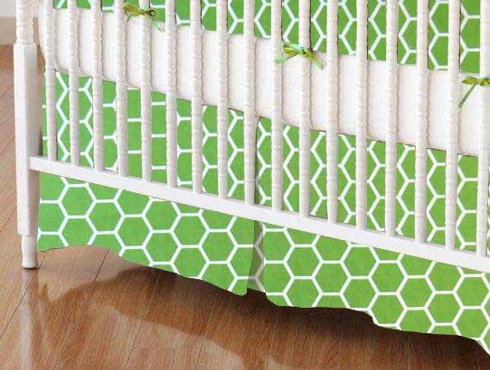 Crib Skirt - Citrus Honeycomb