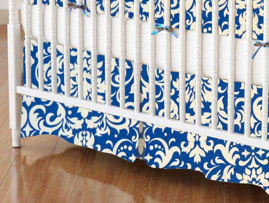 Crib Skirt - Royal Damask