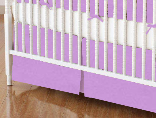Mini Crib Skirt - Solid Lilac Woven