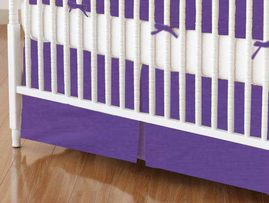 Crib Skirt - Solid Purple Woven
