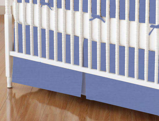 Crib Skirt - Wedgewood Blue Woven