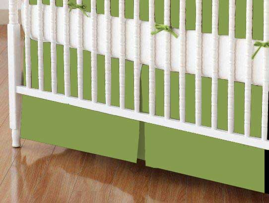 Mini Crib Skirt - Sage Woven