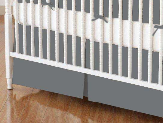 Crib Skirt - Dark Grey Woven