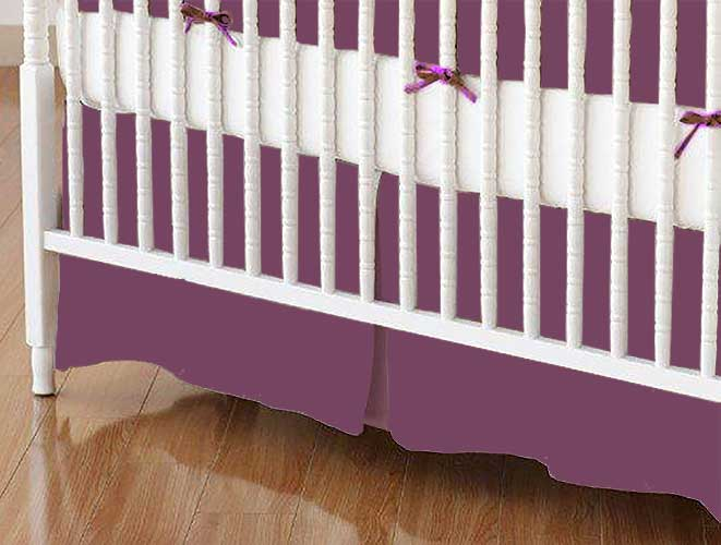 Mini Crib Skirt - Mint Woven