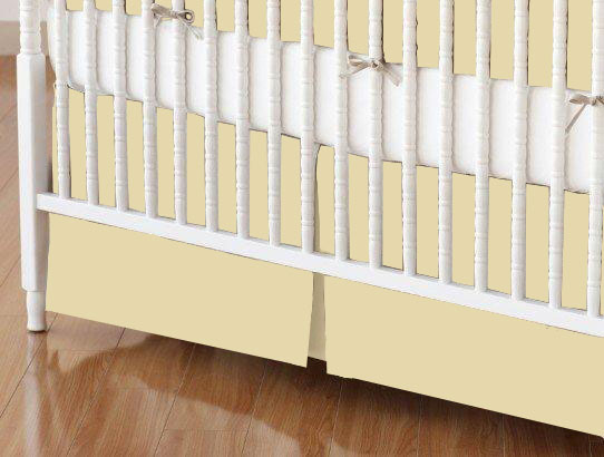 Crib Skirt - Solid Bone Woven