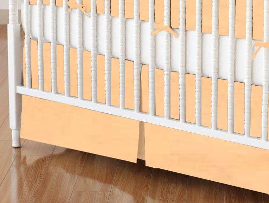 Crib Skirt - Solid Peach Woven