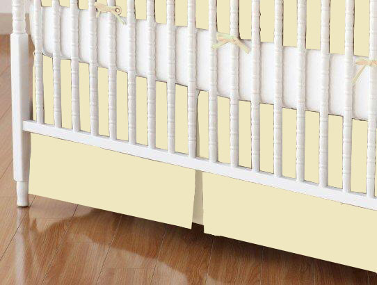 Crib Skirt - Soft Yellow Jersey Knit