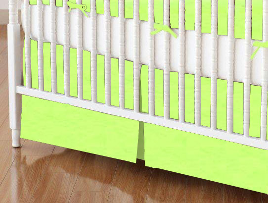 Crib Skirt - Flannel - Lime