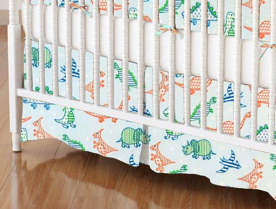 Crib Skirt - Baby Dinosaurs
