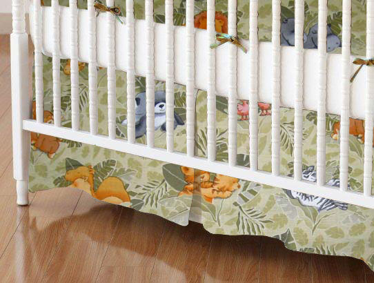 Mini Crib Skirt - Animal Forest