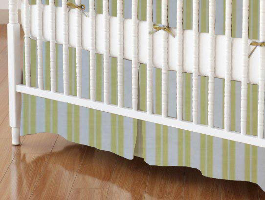 Crib Skirt - Yellow Dual Stripe 28x52