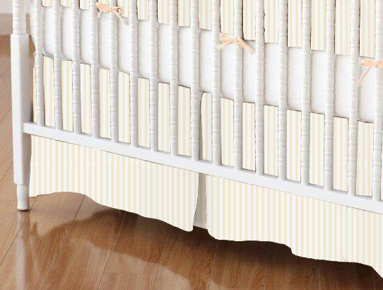 Mini Crib Skirt - Yellow Stripes Jersey Knit