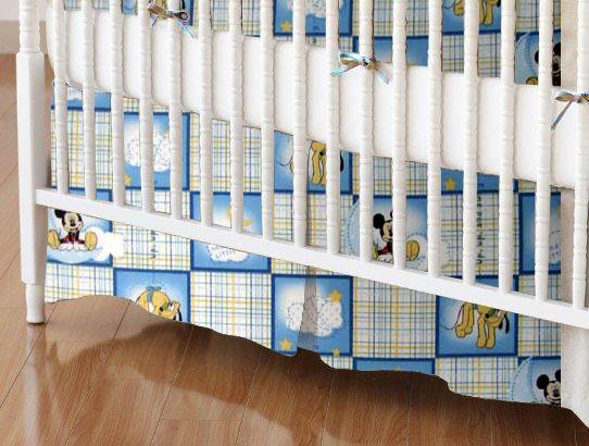 Mini Crib Skirt - Mickey Mouse Squares