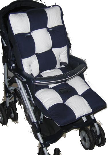 White Dot Patch Stroller Liner