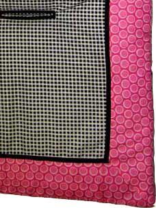 Pink Bubbles Stroller Liner