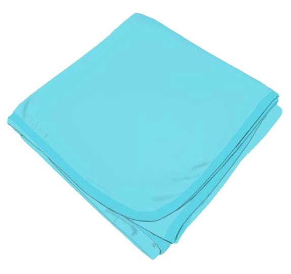 Solid Aqua Receiving Blanket