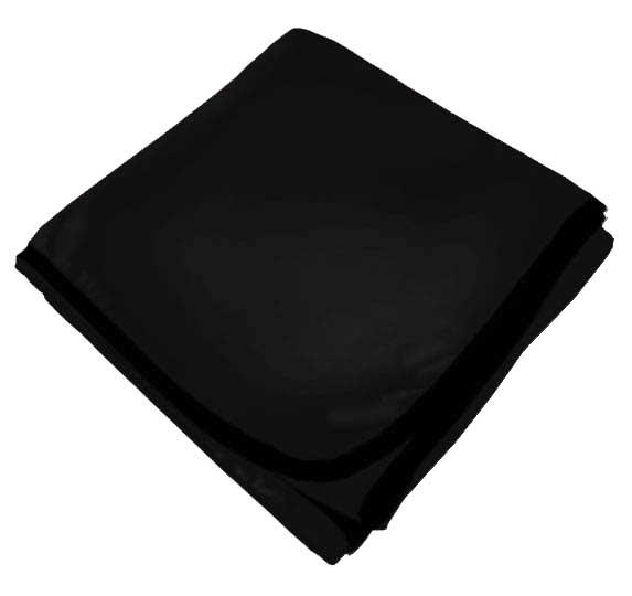 Solid Black Receiving Blanket