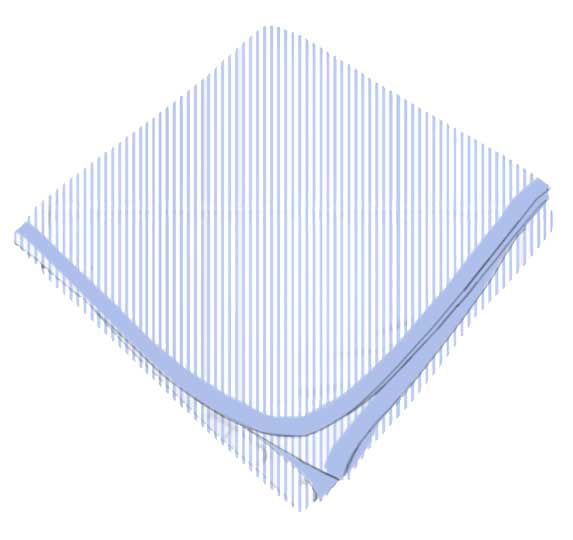 Blue Pinstripe Receiving Blanket