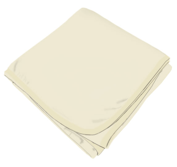 Solid Ivory Receiving Blanket