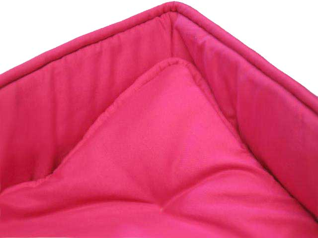 Solid Hot Pink Portable / Mini Crib Set